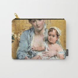 11,000px,500dpi-Alfred Stevens - Mother and Child - Digital Remastered Edition Carry-All Pouch