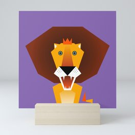 Lion – Childrens Room Illustration for Boys and Girls Mini Art Print