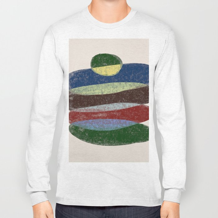 Stay On Top - Abstract, textured, pastel layers Long Sleeve T-shirt