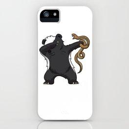 Dabbing Honey Badger Fighting Snake Care iPhone Case