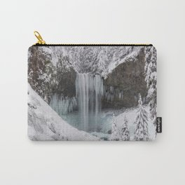 Tamanawas Falls in Winter Carry-All Pouch