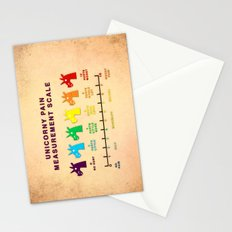 Unicorny Pain Measurement Scale Stationery Cards