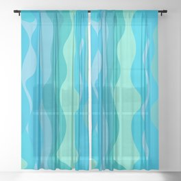 The Flow Of Fresh Water Sheer Curtain