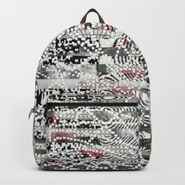 A Virtual Two By Four (P/D3 Glitch Collage Studies) Backpack