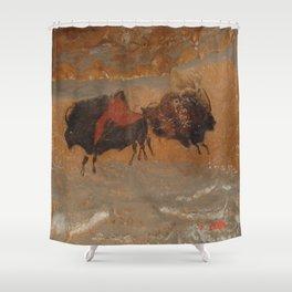 Jäger und Sammer - Frankreich Hölenzeichnung   (A7 B0179) Shower Curtain