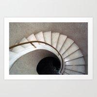 Spiral Stair - Denys Lasdun Art Print