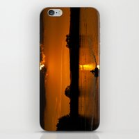rowing iPhone & iPod Skins featuring Rowing out of the sun by Traveling Journalist