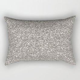 Silver Glitter I Rectangular Pillow