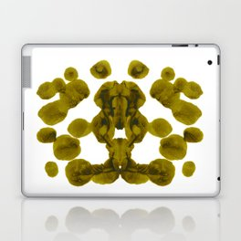 Olive Green Rorschach Test Laptop & iPad Skin