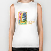 fairytale Biker Tanks featuring Mundane Fairytale by AriesNamarie