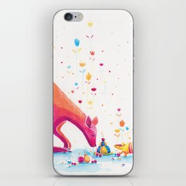 Princess Kangaroo Art Print - Armadillo's Generous Offering iPhone Skin