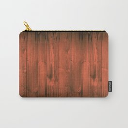 Orange Wood Planks Carry-All Pouch