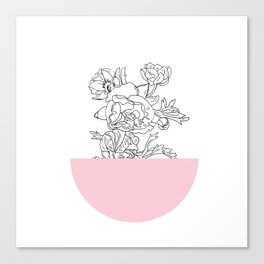 VESSEL - Floral Ink in Pink - Cooper and Colleen Canvas Print