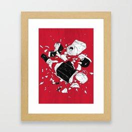 Too drunk too funk Framed Art Print