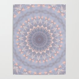 BUTTERFLIES AND BEADS IN PINK Poster