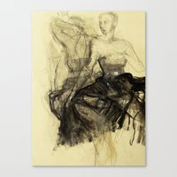 degas Canvas Prints featuring Hommage à Degas I by Ute Rathmann