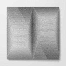 Binary Rooms Metal Print