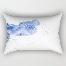 Water Nymph XLVII Rectangular Pillow
