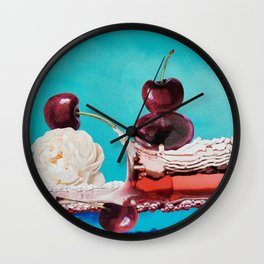 Puddles of Play & Pink Bubbles Wall Clock