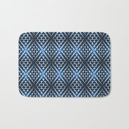 Geometrically Blue... Bath Mat
