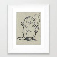 olaf Framed Art Prints featuring olaf by Bern