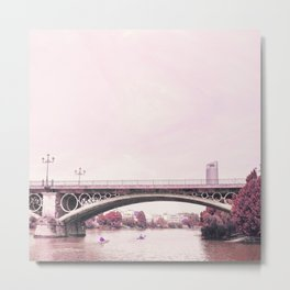 Pink mood at Triana Bridge Metal Print