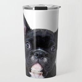French bulldog portrait Travel Mug