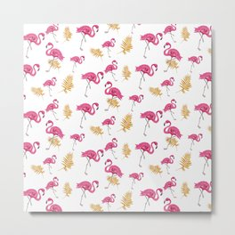 Flamingo Bird pattern Metal Print