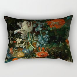 "Jan van Huysum ""Still life with flowers and fruits"" Rectangular Pillow"