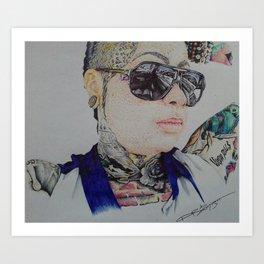 bg illustrated women britanie girard Art Print