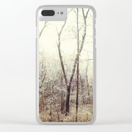 Winter Woods #1 Clear iPhone Case