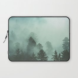 Magnificent Morning - Foggy Redwood Forest Nature Photography Laptop Sleeve