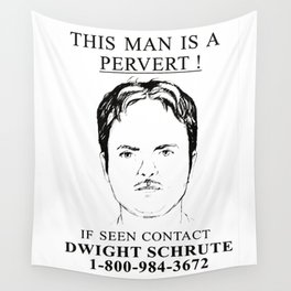 Wanted Pervert Wall Tapestry