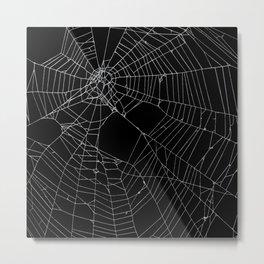 SpiderWeb Web Metal Print