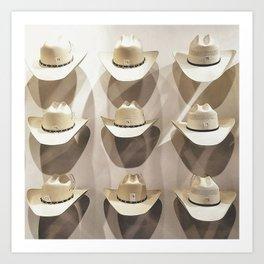 Cowboy hat collection Kunstdrucke