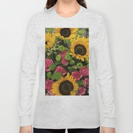 Sunflowers and Little Red Roses Long Sleeve T-shirt