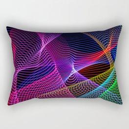 Rainbow Tornados Light Painting Rectangular Pillow