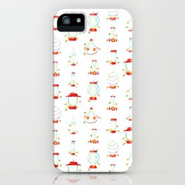 Hummingbird Feeders Pattern iPhone Case