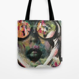 wild one mixed media, collage, vintage photography, bold, bright, beautiful Tote Bag