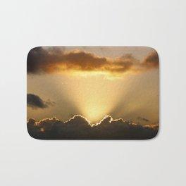 Sun rays and dark clouds Bath Mat