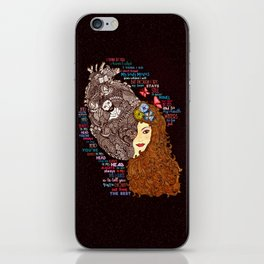 Always In My Head Lyrical Doodle iPhone Skin