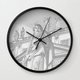 St Peter Rome in Pencil Wall Clock