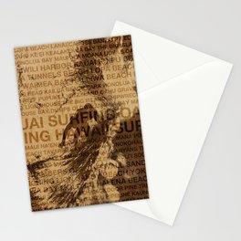 Surfing Hawaii, The Green Room, Hawaiian Surfing Design Stationery Cards