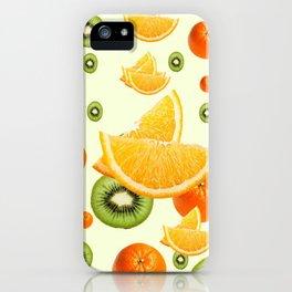 TROPICAL KIWI-ORANGES KITCHEN ART iPhone Case