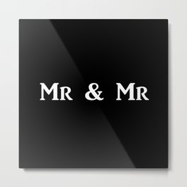 Mr & Mr Monogram bold Metal Print