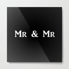Mr & Mr Monogram bold Metal Print