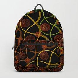 Spiral Round Black Backpack