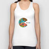 80s Tank Tops featuring Pac-80s by Skorretto