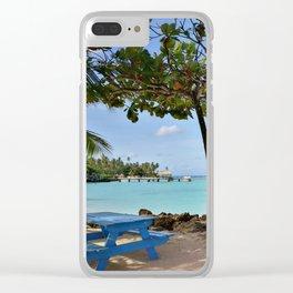 Beach view Clear iPhone Case