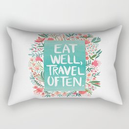 Eat Well, Travel Often Bouquet Rectangular Pillow